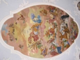 Ceiling fresco in the Catholic Pilgrimage Church St. Kilian in Oberelsbach