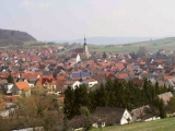 Picture of the place of Oberelsbach with church