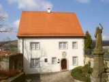 Valentin-Rathgeber-House in Oberelsbach. Birth place of the Baroque composer Johann Valentin Rathgeber. Today: First German Tobacco Museum with Rathgeber Room.