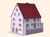 Modell des Geburtshauses Valentin Rathgebers in Oberelsbach